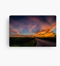 Country Road Amazing Sunset Canvas Print