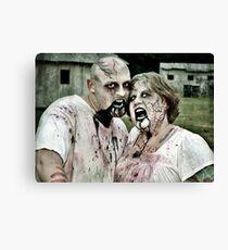 Zombie Love Canvas Print