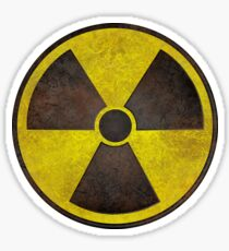 Radioactive Fallout Symbol - Scratched Sticker