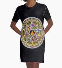 Sabbat Pentacle for Beltane, the Celtic May Day Festival Graphic T-Shirt Dress
