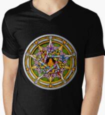 Sabbat Pentacle for Beltane, the Celtic May Day Festival Men's V-Neck T-Shirt