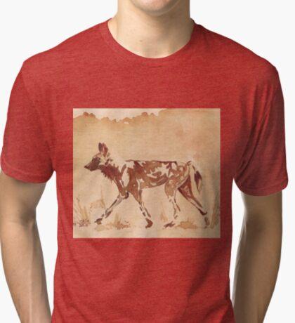 Painted Dog - African Wild Dog Tri-blend T-Shirt
