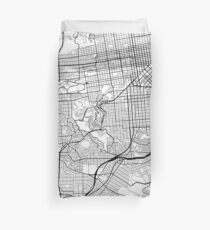 Funda nórdica San Francisco Map, Estados Unidos - Blanco y negro