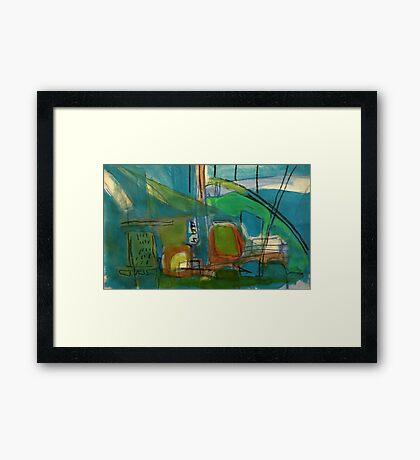 bright port Framed Print