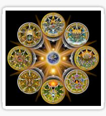Witches' Wheel of the Year Sticker