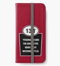 13.1 - Binge Watching Record iPhone Wallet/Case/Skin