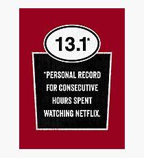 13.1 - Binge Watching Record Photographic Print