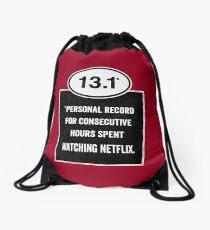 13.1 - Binge Watching Record Drawstring Bag
