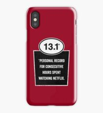 13.1 - Binge Watching Record iPhone Case