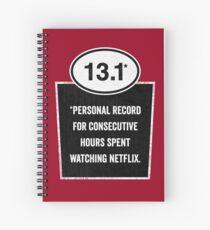 13.1 - Binge Watching Record Spiral Notebook