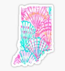 Lilly Pulitzer Indiana State Inspired  Sticker