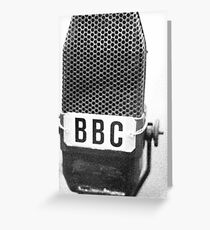 Old BBC Microphone Greeting Card