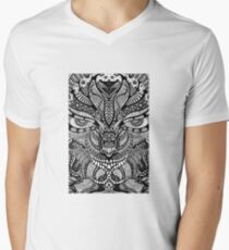 Psychedelic pattern art Men's V-Neck T-Shirt