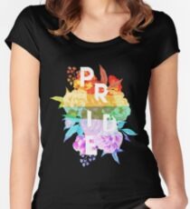 Floral Pride Women's Fitted Scoop T-Shirt