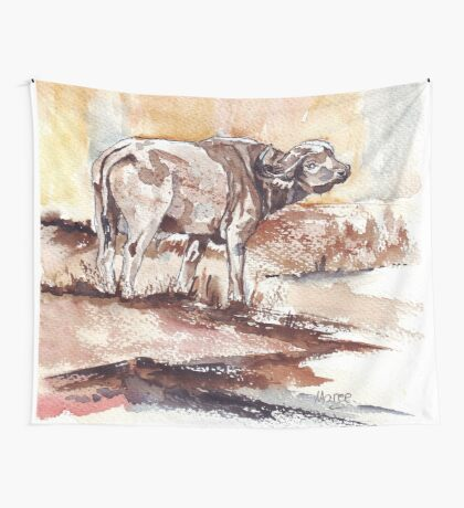 African Buffalo Wall Tapestry