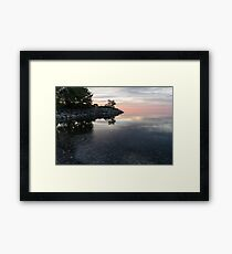 Soft Pinks and Purples - Silky Morning on Lake Ontario Framed Print