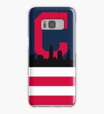 Cleveland Indians American Flag Samsung Galaxy Case/Skin