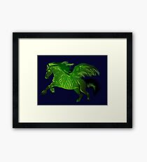 Green wing horse Framed Print