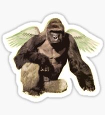 Harambe from above Sticker