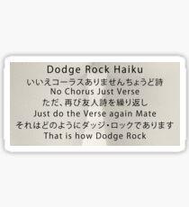 Dodge Rock Haiku Sticker