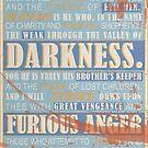 Pulp Fiction: Ezekiel 25:17 (Bloodied) by Badga