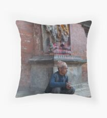 Protected by Ganapathi Throw Pillow