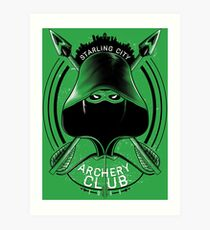 Archery Club Art Print