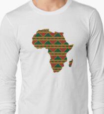 Africa map pattern Africa t-shirt Long Sleeve T-Shirt