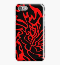 Red and black decor iPhone Case/Skin