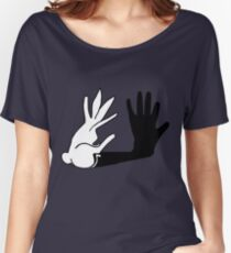 Easter Bunny Shadow Puppet Women's Relaxed Fit T-Shirt