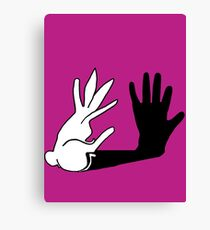 Easter Bunny Shadow Puppet Canvas Print