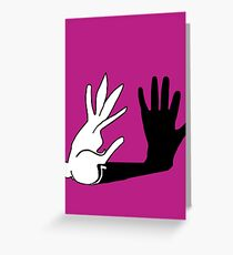 Easter Bunny Shadow Puppet Greeting Card