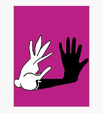 Easter Bunny Shadow Puppet Photographic Print