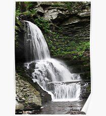 Misty Waterfall ~ Springtime Fresh Poster