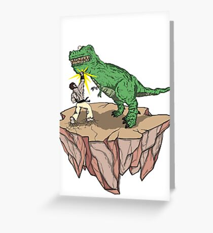 Dino Fighter! Greeting Card