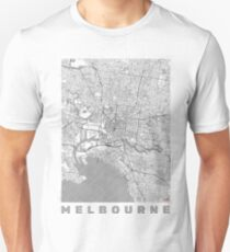 Melbourne Map Line Unisex T-Shirt