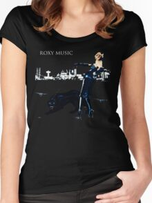 Roxy Music Shirt Women's Fitted Scoop T-Shirt
