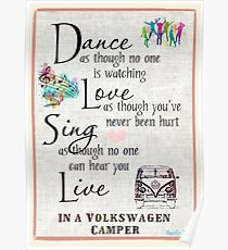 Dance,Love,Sing,Live VW Poster