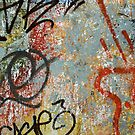 Colourful graffiti wall by sledgehammer