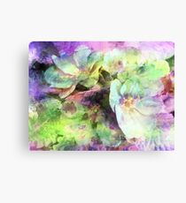 Pink and Green Floral Abstract Canvas Print