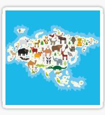Eurasia Animal Map Sticker