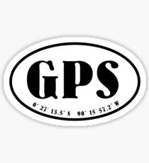 Galapagos Islands airport code oval stickers Sticker