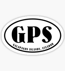 Galapagos Islands airport code (oval) Sticker