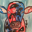 A cow that been on the wrong sort of grass by JoeJoeT