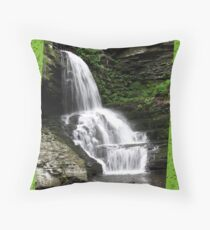 Misty Waterfall ~ Springtime Fresh Throw Pillow