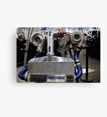 twin turbo setup Canvas Print