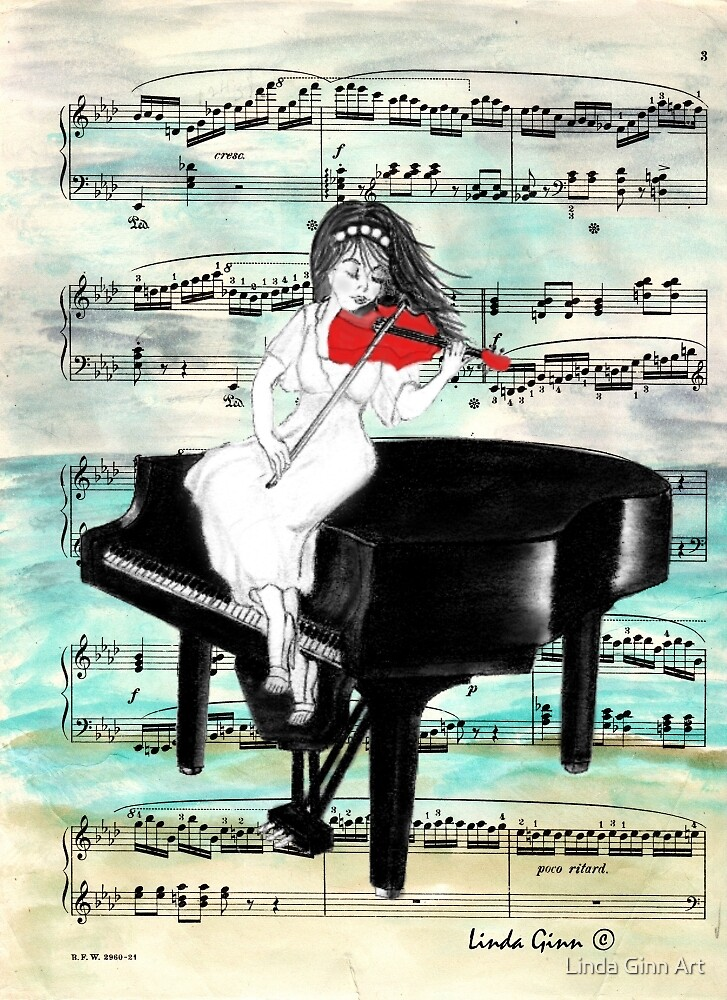 The Red Violin by Linda Ginn Art