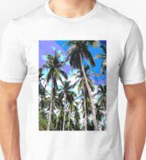 Tropical Palm Trees. Posterised colour design. Unisex T-Shirt
