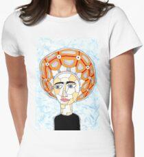 14th Century Italian Escoffion Women's Fitted T-Shirt