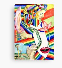 The Serpent and the Rainbow girl Canvas Print